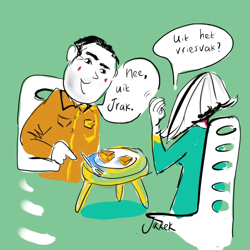 Illustratie baklava eten