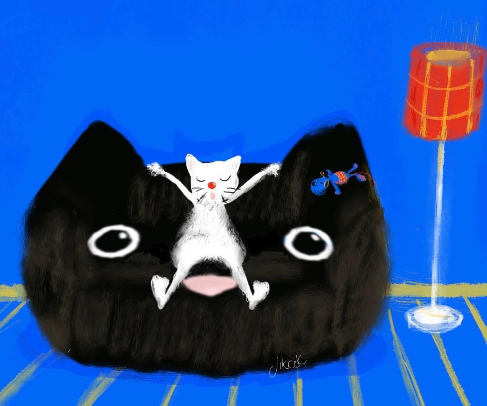 Kat op kattenbank