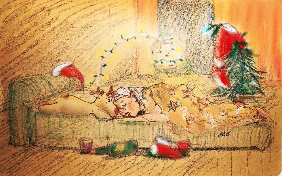 Kerstvrouw door Jikke Kuiper